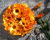 Fresh marigold wreath