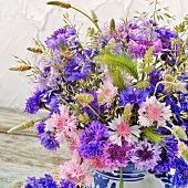 Bouquet with cornflowers