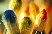 Paintbrush with food colourings