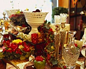 Table with opulent decorations