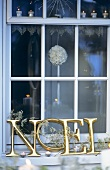 French Christmas window decoration