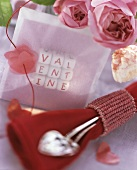 Valentine Card with Utensils