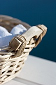 White towels in a basket