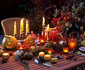 Festive table for Halloween