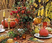 Fall Table with Pumpkins