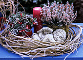 Wintry still life with cherub