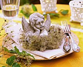 Plate decorated with angel