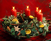 Advent wreath with spices