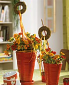Summery table decoration with geums