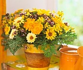 Marigolds, St. John's wort, oregano flowers and Artemisia