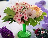 Arrangement of Phlox, rose mallow, dahlias and delphiniums