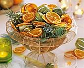 Basket of dried citrus fruits