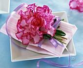 Azalea as napkin decoration