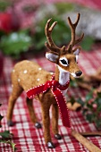 Stag with bow (Christmas decoration)