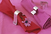Biscuit cutter used as napkin ring