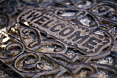 Wrought iron welcome mat