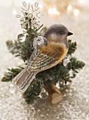 Christmas decoration (bird on fir branch)