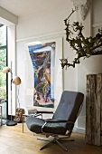 Armchair in corner