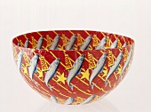Bowl with pattern of fish