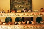 Animal figurines on a shelf