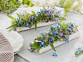 Small garlands of herbs (napkin decorations)