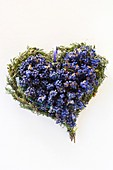 Lavender heart (overhead view)