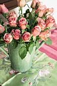 Roses in a ceramic vase