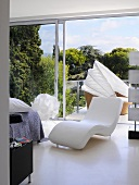 Designer furniture in Villa Bamboo, Southern France