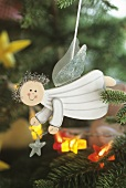 Flying angel on Christmas tree