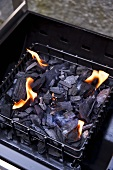 A wood coal barbeque