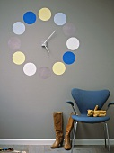Home-made wall clock