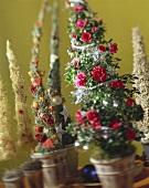 Christmas arrangements (Azalea plants)