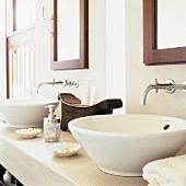 Two wash basins