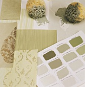 Paint & wallpaper samples with sponges