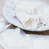 Rice in paper cones