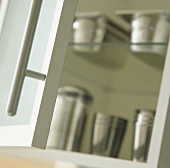 View into a kitchen cupboard