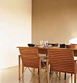 Laid dining table