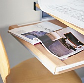 Magazine on desk