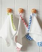 Flannels hanging on hooks