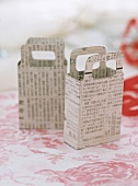Small paper bags covered in Chinese characters