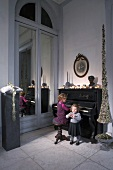 A girls at a piano