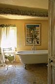 A country-house style bathroom