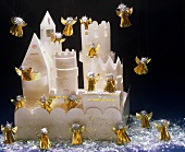 Paper castle with Christmas angels