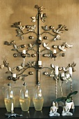 Wall mounted candelabra and candlesticks
