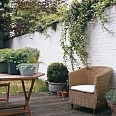 Furniture on terrace
