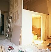Ein zusätzlicher Einbau im Rohbaustadium, der auch als Galerie dienen wird