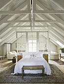 A bedroom under the eaves