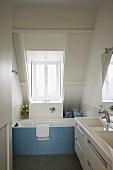 A bathroom under the eaves