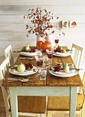 Laid table (autumnal)