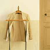Jacket on valet stand